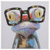 Frog With Glasses Canvas Wall Decor