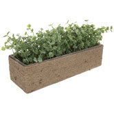 Greenery In Rectangle Planter With Jute
