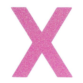 "Glitter Wood Letter X - 4"""
