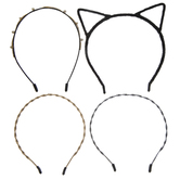 Black, Gold & Cat Ears Headbands