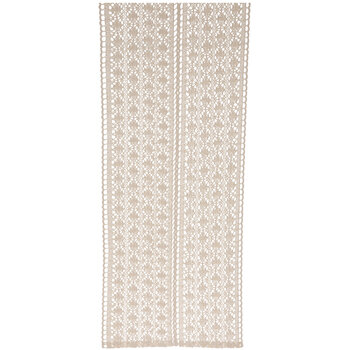 Beige Cotton Lace Table Runner