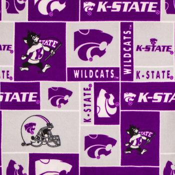 Kansas State Collegiate Fleece Fabric