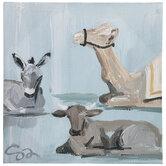 Nativity Animals Canvas Wall Decor