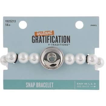 Glass Pearl Snap Bracelet