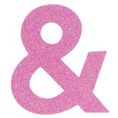 "Glitter Wood Symbol Ampersand - 4"""