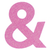 Glitter Wood Symbol Ampersand - 4