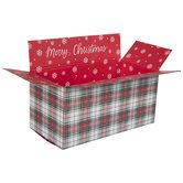 Merry Christmas Plaid Mailing Box