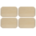 Clipped Corner Rectangle Wood Plaques - 3