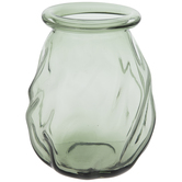 Green Twisted Glass Vase