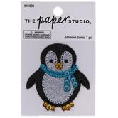 Penguin Glitter & Rhinestones Sticker