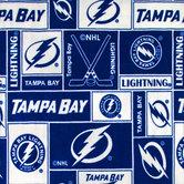 NHL Tampa Bay Lightning Block Fleece Fabric