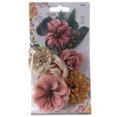 Peach Garden Prima Flower Embellishments