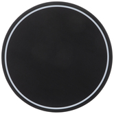 Black Round Chalkboard With White Border