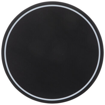 Black Round Chalkboard With White Border