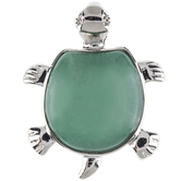 Green Aventurine Turtle Pendant