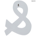 White Symbol Wood Wall Decor - Ampersand