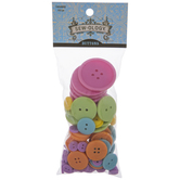 Pastel Assorted Round Buttons