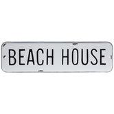 Beach House Metal Sign