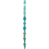 Ombre Glass Pearl & Crystal Bead Strand
