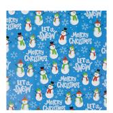 Merry Christmas Snowmen Gift Wrap