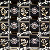 MLB Milwaukee Brewers Fleece Fabric