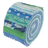 Blue & Green Jelly Roll Fabric Strips