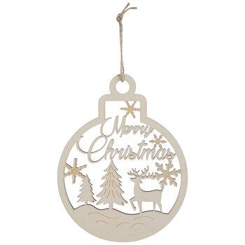 Merry Christmas Reindeer Ball Ornaments