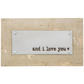 And I Love You Wood Wall Decor