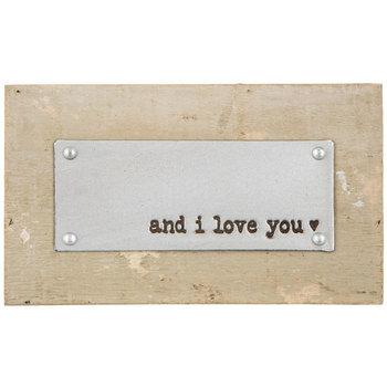 And I Love You Wood Decor