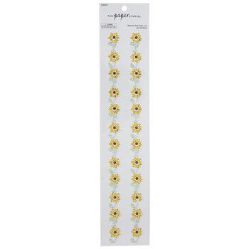 Sunflower Rhinestone Border Stickers