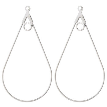 Teardrop Hoop Earrings - 45mm