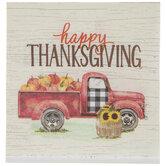Happy Thanksgiving Truck & Pumpkins Napkins