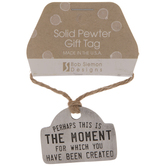 Solid Pewter Gift Tag