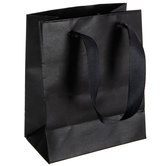 Black Gift Bags With Glossy Cuff