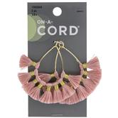 Pink Tassel Teardrop Pendants