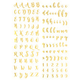 Gold Script Alphabet Rub-Ons
