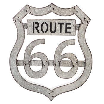 Route 66 Galvanized Metal Wall Decor