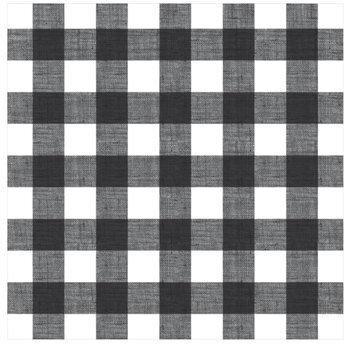 "Black & White Buffalo Check Scrapbook Paper - 12"" x 12"""