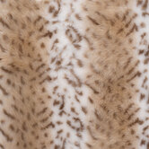 Snow Leopard Faux Fur Fabric