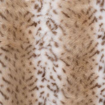Snow Leopard Faux Fur Fabric