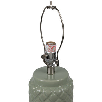 Sage Green Raised Diamond Lamp