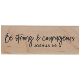 Joshua 1:9 Rubber Stamp