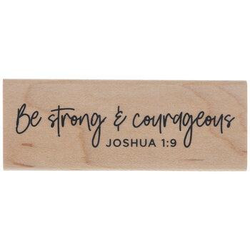 Joshua 1:9 Rubber Stamp