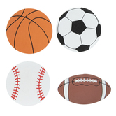 Sport Ball Painted Wood Shapes