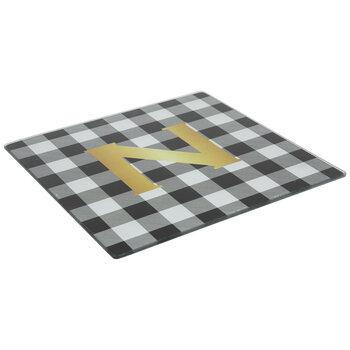 Black & White Buffalo Check Square Trivet - N