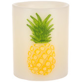 Pineapple LED Pillar Candle