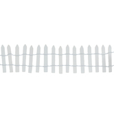 White Wood Picket Fence With Wire