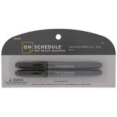 Black Fine Bullet Tip Dry Erase Markers - 2 Piece Set