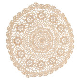Natural Round Doily - 12""