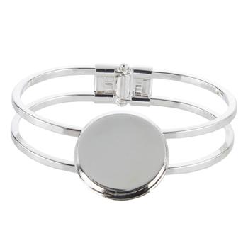 Hinged Bezel Bracelet